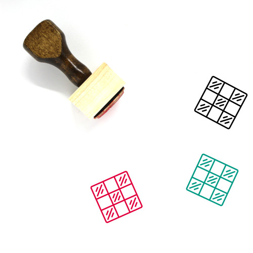 Chess Board Wooden Rubber Stamp No. 5