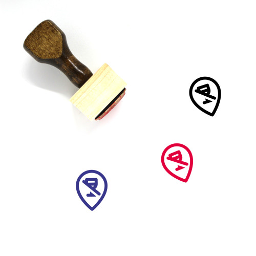 No Alcohol Zone Wooden Rubber Stamp No. 1