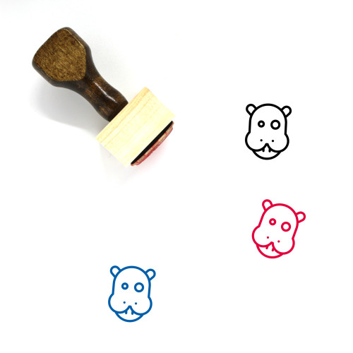 Animal Wooden Rubber Stamp No. 32
