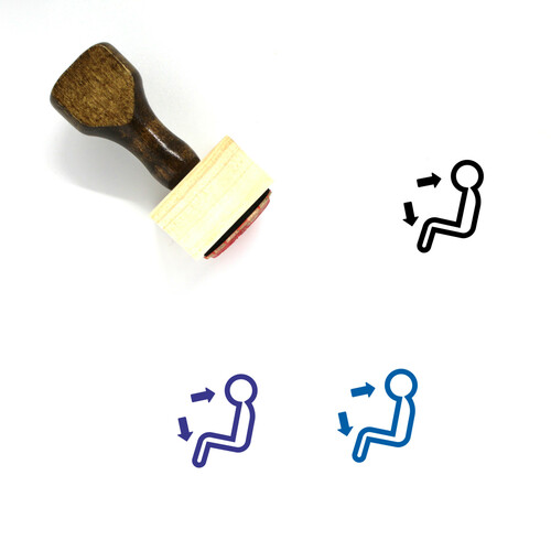 Air Conditioner Wooden Rubber Stamp No. 13