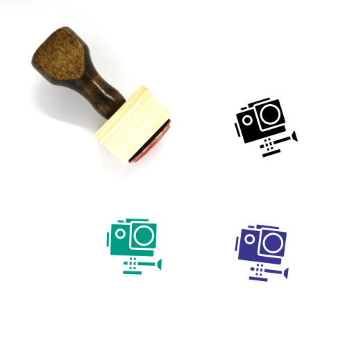 Action Wooden Rubber Stamp No. 6