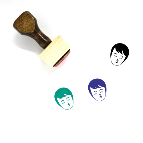 Kiss Wooden Rubber Stamp No. 20
