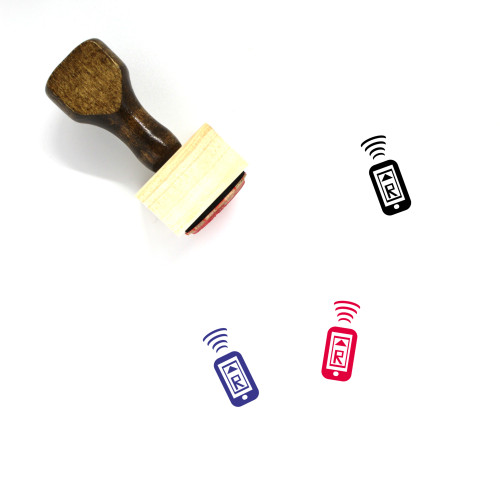 Mobile Payment Wooden Rubber Stamp No. 15