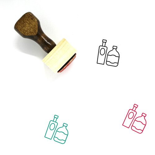 Alcohol Wooden Rubber Stamp No. 10
