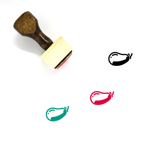 Eggplant Wooden Rubber Stamp No. 30