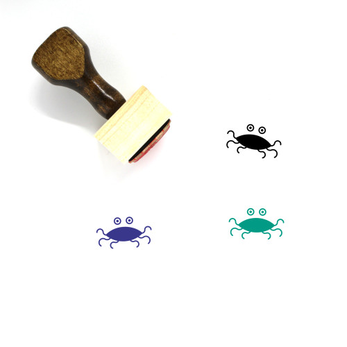 Flying Spaghetti Monster Wooden Rubber Stamp No. 1
