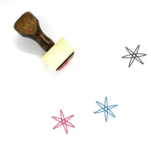 Star Wooden Rubber Stamp No. 687