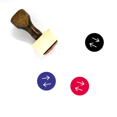 Horizontal Arrows Wooden Rubber Stamp No. 5