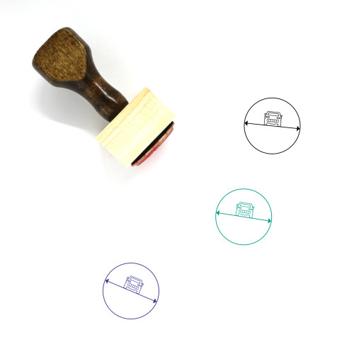 Gyro Roll Angle Wooden Rubber Stamp No. 1