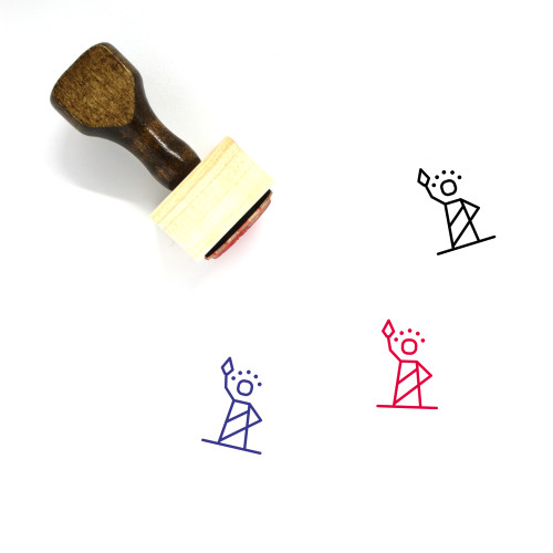 Statue Wooden Rubber Stamp No. 15