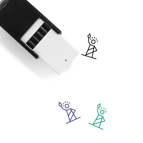 Statue Self-Inking Rubber Stamp No. 15