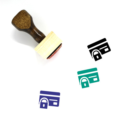 Secure Payment Wooden Rubber Stamp No. 11