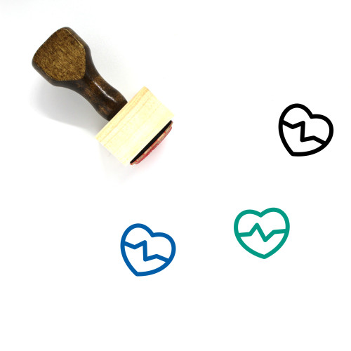 Health Wooden Rubber Stamp No. 348