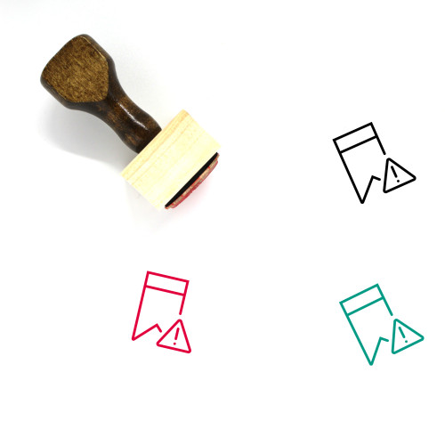 Bookmark Warning Wooden Rubber Stamp No. 1