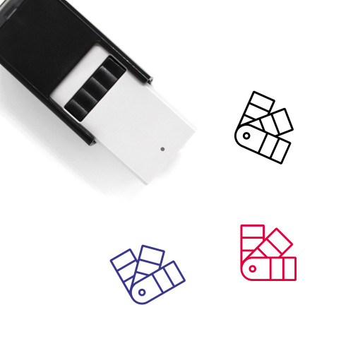Color Fan Self-Inking Rubber Stamp No. 2