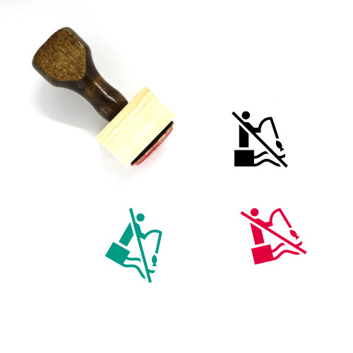 No Fishing Wooden Rubber Stamp No. 7