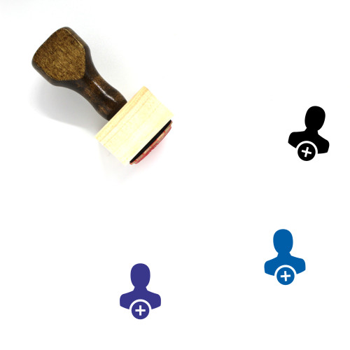 Add User Wooden Rubber Stamp No. 35