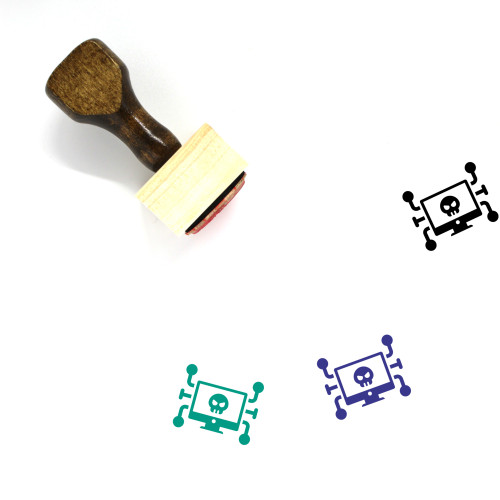 Cyber Crime Wooden Rubber Stamp No. 6