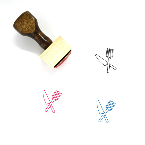 Eat Wooden Rubber Stamp No. 23