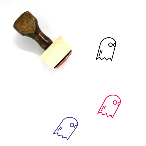 Ghost Wooden Rubber Stamp No. 109