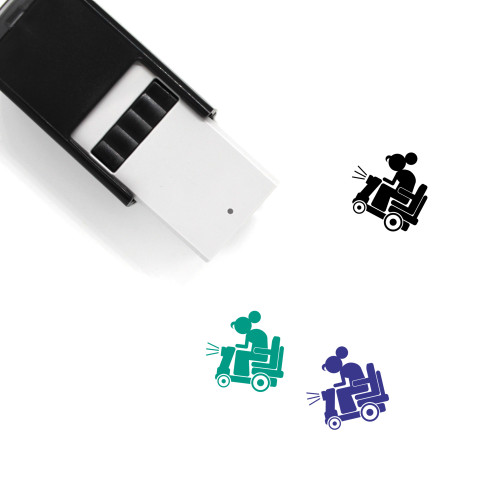 Elderly Woman Self-Inking Rubber Stamp No. 4