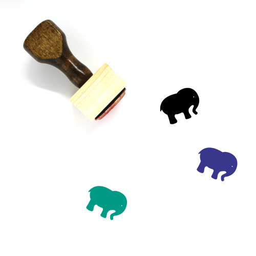 Elephant Wooden Rubber Stamp No. 22