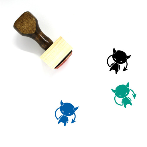 Devil Wooden Rubber Stamp No. 2