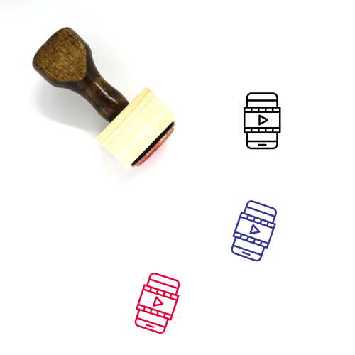 Video Wooden Rubber Stamp No. 42