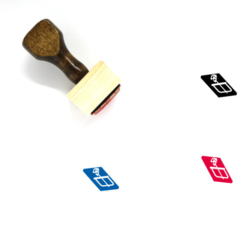 Mouse Trap Wooden Rubber Stamp No. 1