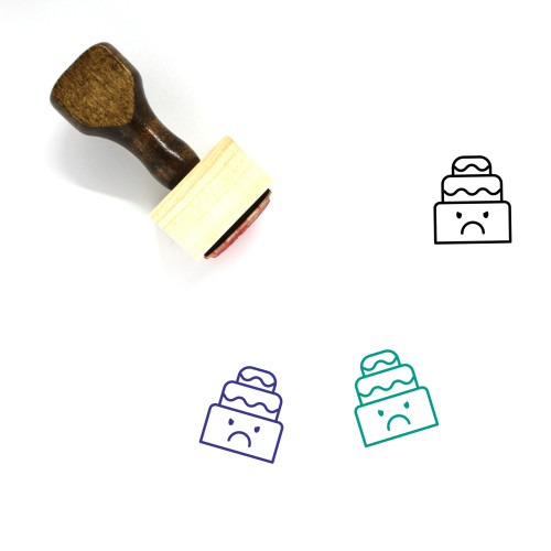 Cake Wooden Rubber Stamp No. 7