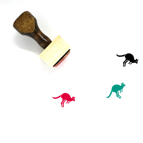 Kangaroo Wooden Rubber Stamp No. 34