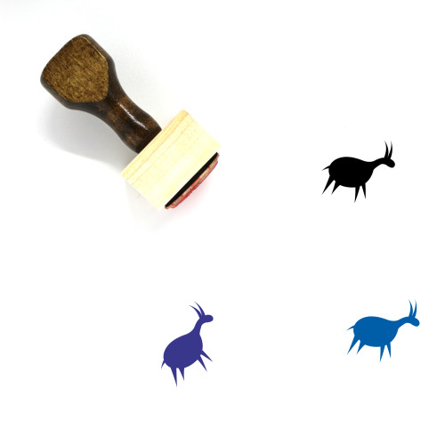 Antelope Wooden Rubber Stamp No. 5