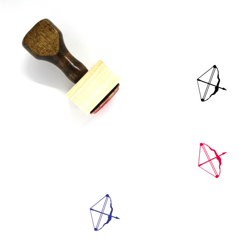 Bow And Arrow Wooden Rubber Stamp No. 24