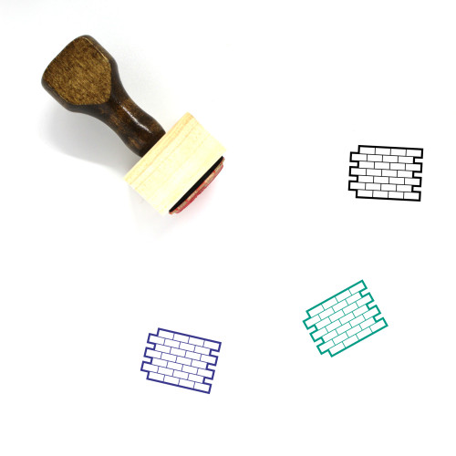 Brick Wall Wooden Rubber Stamp No. 15
