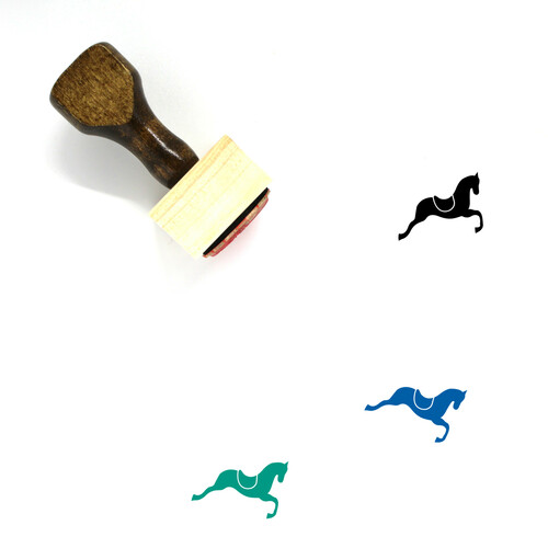 Horse Wooden Rubber Stamp No. 5