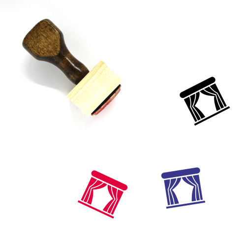 Theater Wooden Rubber Stamp No. 12