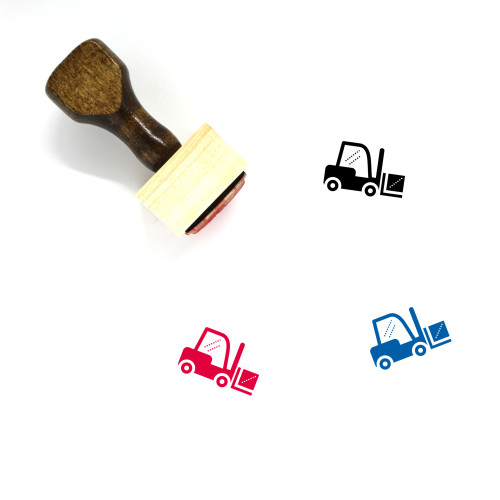 Forklift Wooden Rubber Stamp No. 14