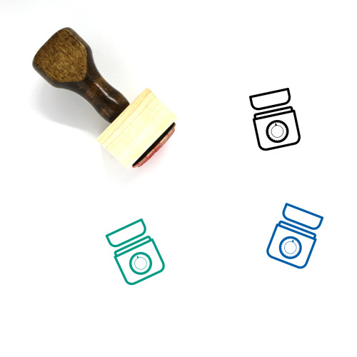 Kitchen Scale Wooden Rubber Stamp No. 15