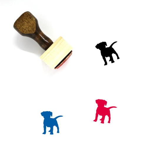 Dog Wooden Rubber Stamp No. 52