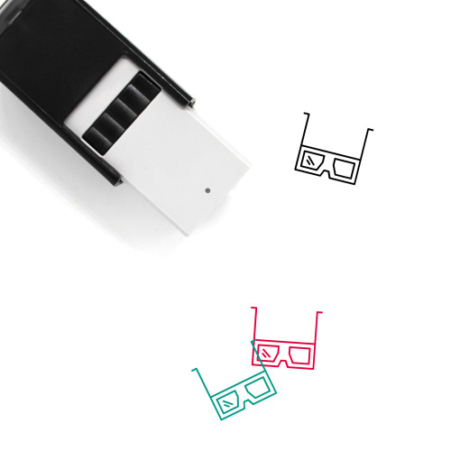 3D Glasses Self-Inking Rubber Stamp No. 13