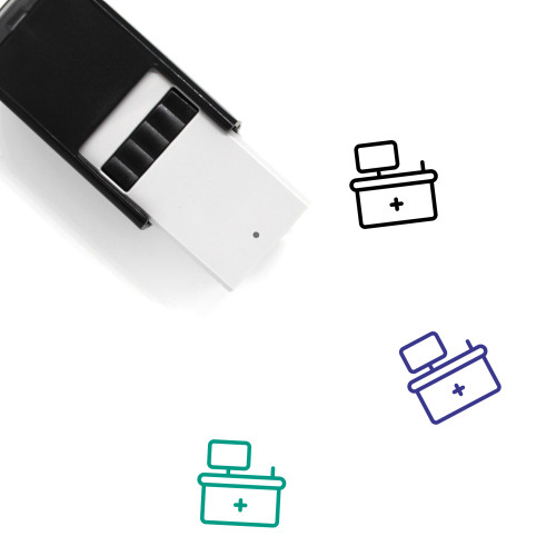 Front Desk Self-Inking Rubber Stamp No. 4