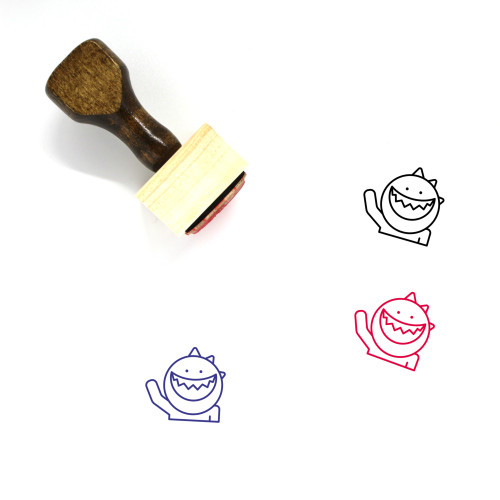 Hello Wooden Rubber Stamp No. 15