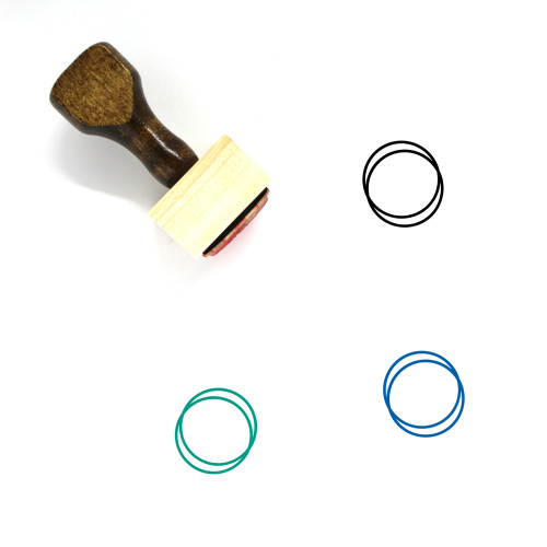 Circle In Circle Wooden Rubber Stamp No. 1