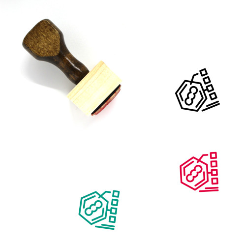 Bacteria Wooden Rubber Stamp No. 13