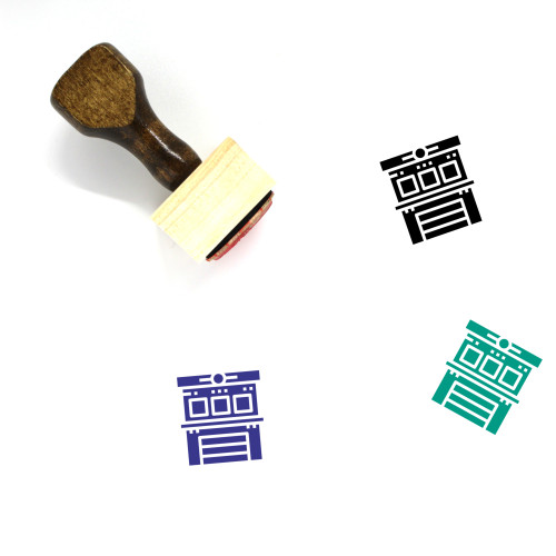 Fire Station Wooden Rubber Stamp No. 9