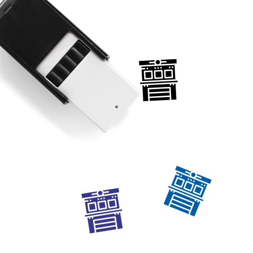Fire Station Self-Inking Rubber Stamp No. 8