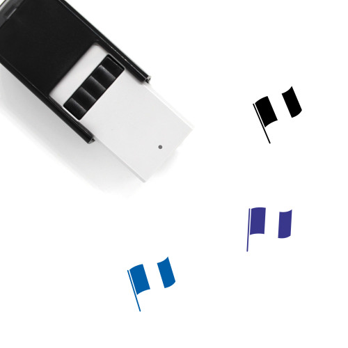 Belgian Flag Self-Inking Rubber Stamp No. 1
