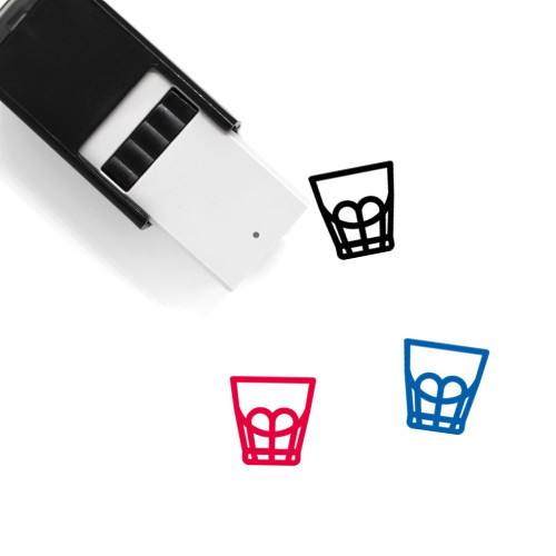 2Oz Espresso Shot Glass Self-Inking Rubber Stamp No. 1