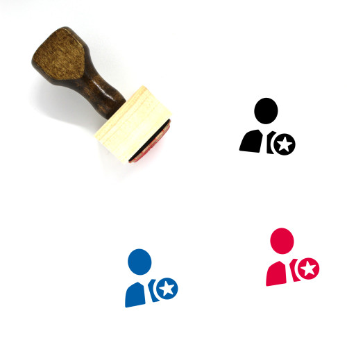 Promotion Wooden Rubber Stamp No. 6