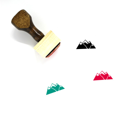 Mountain Wooden Rubber Stamp No. 92